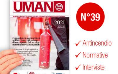UMAN24 n.39 – Competenza, conoscenza, abilità: la certificazione di terza parte del tecnico manutentore antincendio